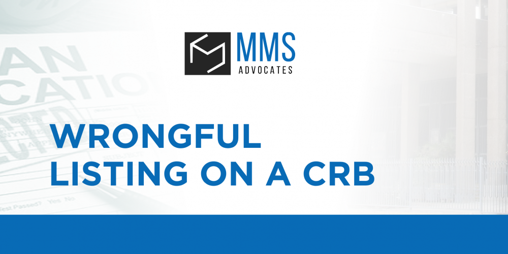WRONGFUL LISTING ON A CRB