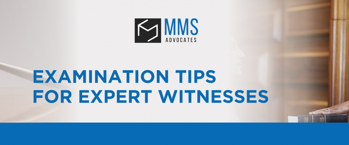 Examination Tips for Expert Witnesses