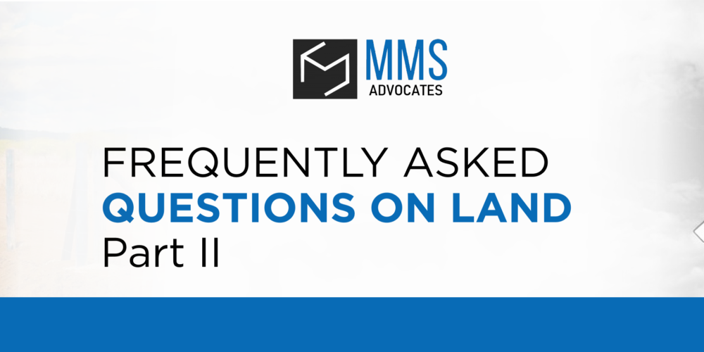 FREQUENTLY ASKED QUESTIONS ON LAND - PART II
